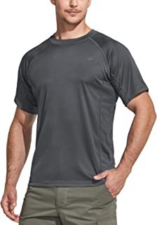 CQR Men's UPF 50+ UV Sun Protection Outdoor Shirts, Atheletic Running Hiking Short Sleeve Shirt, Cool Dry fit T-Shirts