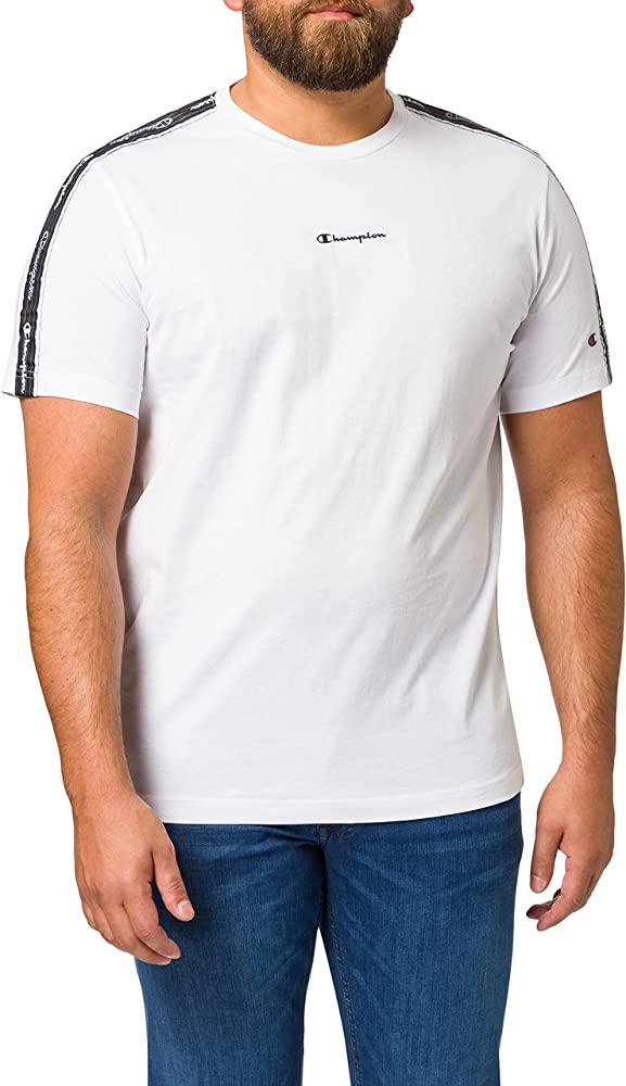 Champion t-shirt uomo maglietta per uomo a maniche corte 100% cotone 214229