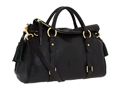 Dooney & Bourke Florentine Vachetta Satchel (Black/Black Trim) Handbags
