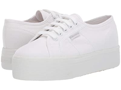 Superga 2790 Acotw Platform Sneaker (Total White) Women