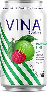 Sponsored Ad - VINA Sparkling Apple Cider Vinegar Drink | Raspberry Lime Made With Immune Boosting Certified Organic Apple...