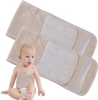 Fasoar Cotton Warm Umbilical Cord Unisex Newborn Navel Belt Baby Belly Band,2 Pk Flesh Color