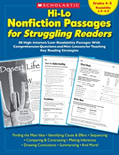 Hi-Lo Nonfiction Passages for Struggling Readers: Grades 4-5: 80 High-Interest/Low-Readability Passages with Comprehension...