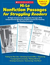 Hi-Lo Nonfiction Passages for Struggling Readers: Grades 4 5: 80 High-Interest/Low-Readability Passages With Comprehension Questions and Mini-Lessons for Teaching Key Reading Strategies