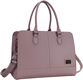 MOSISO Women Laptop Tote Bag 3 Layer Compartments