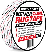 NeverCurl Double Sided Extra Thick Rug Tape with Mesh Fabric - 1.5