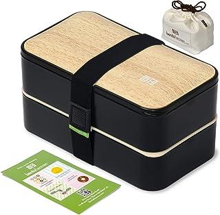 Original BentoHeaven Bento Box Bundle with FREE Lunch Bag, Divider, Utensils, Chopstick & Fun Lunch Box Notes - Leakproof ...