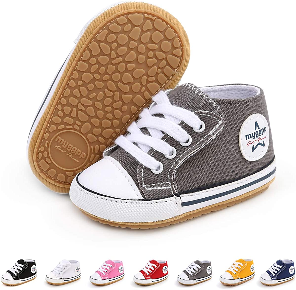 BEBARFER Max 78% OFF Baby Boys Girls Shoes Infant Canvas Sneakers Anti-Slip New life