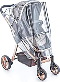 NESHE Baby Stroller Rain Cover Universal - Weather Shield for Umbrella Plastic Stroller - Windproof Waterproof Stroller Accessories Protective from Rain Wind Dust Mosquito