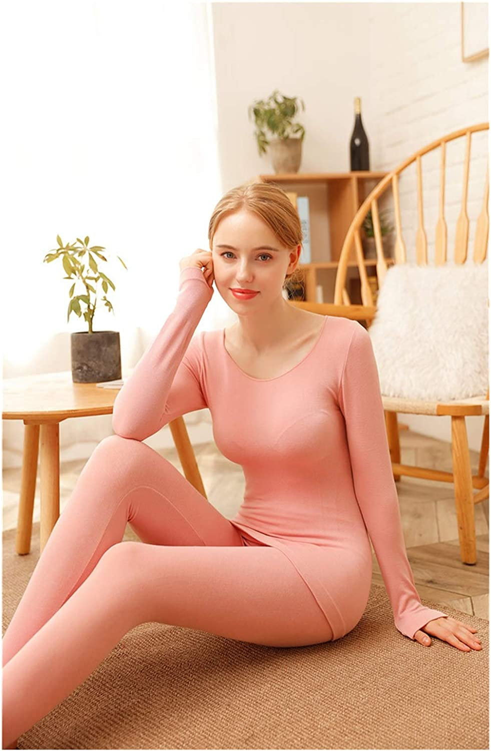 Women's Thermal Underwear Female Long Johns Winter Thermal Set Warm Clothes for Ladies Breathable Seamless Body Suit (Color : 6, Size : One Size)