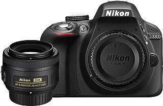 Nikon D3300 DSLR Body (Black) w/ 35mm F/1.8G