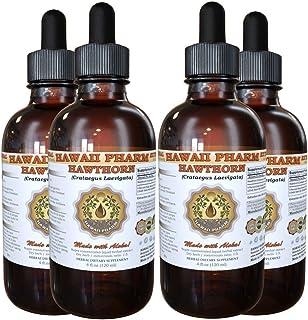 Hawthorn Liquid Extract, Organic Hawthorn (Crataegus Laevigata) Tincture 4x4 oz