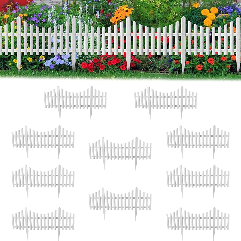 KOXHOX Picket Luxury goods Fence White Edgings service Wed Garden