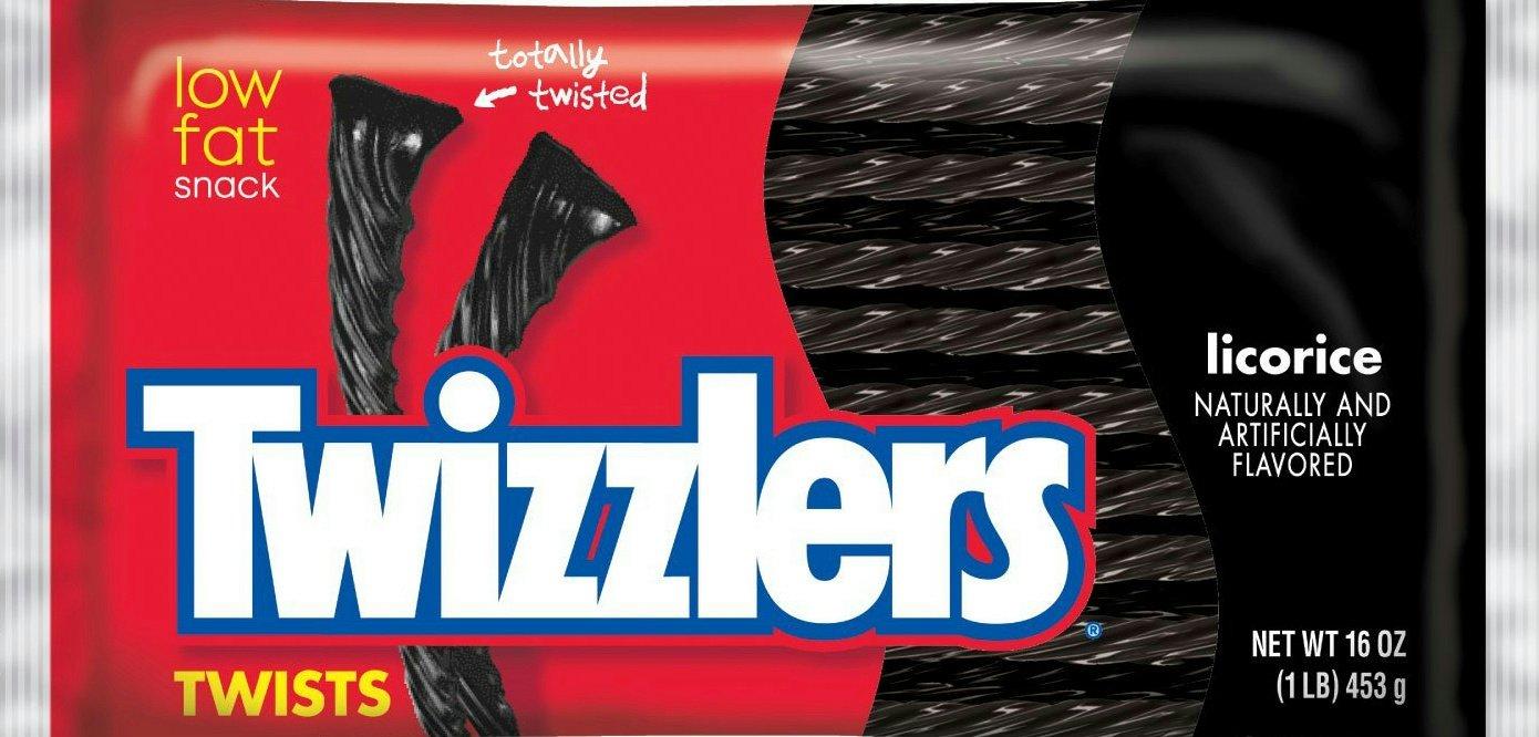 Twizzlers Licorice Black Twist. 2/16 Oz Bags (2Lbs)