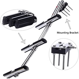 Amarine Made Heavy Duty 3 Steps Boat Marine Dual Vertical Telescoping Tube Stainless Steel Sport Diver Ladder with Mount - 3 Steps - M1085S3