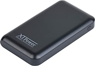 XT Power XT-10000 37Wh Power Bank with Outputs Including QC3 5V/3A; DC 6.5 9V/2A; DC 9V~12V/1.5A; USB Type C 5V/3A; Micro USB 5V/2A for Tablets, Mobile Phones, Cameras, and More (Black)