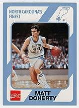 Matt Doherty (Basketball Card) 1989-90 North Carolina Collegiate Collection Coca-Cola North Carolina's Finest # 129 NM/MT