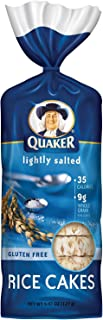 Quaker Rice Cakes, Lightly Salted, 4.47 oz, (pack of 3)