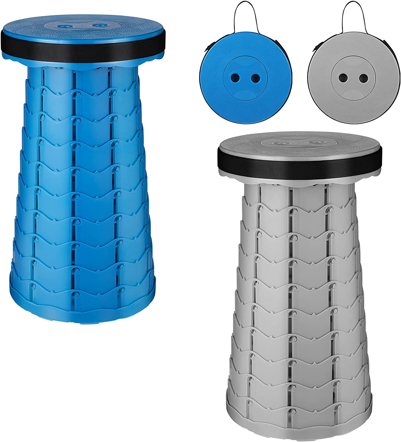 2 Soldering Challenge the lowest price of Japan ☆ Pack Portable Folding Retractable Stool Collapsible Stools
