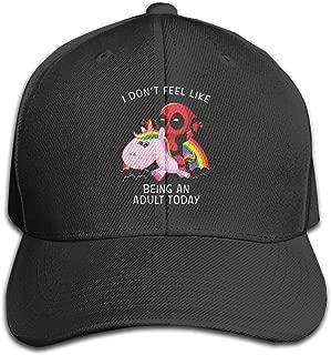 Shahuishahuiewdf I Don't Feel Like Being an Adult Today Deadpool Headgear Adjustable Unisex Hat