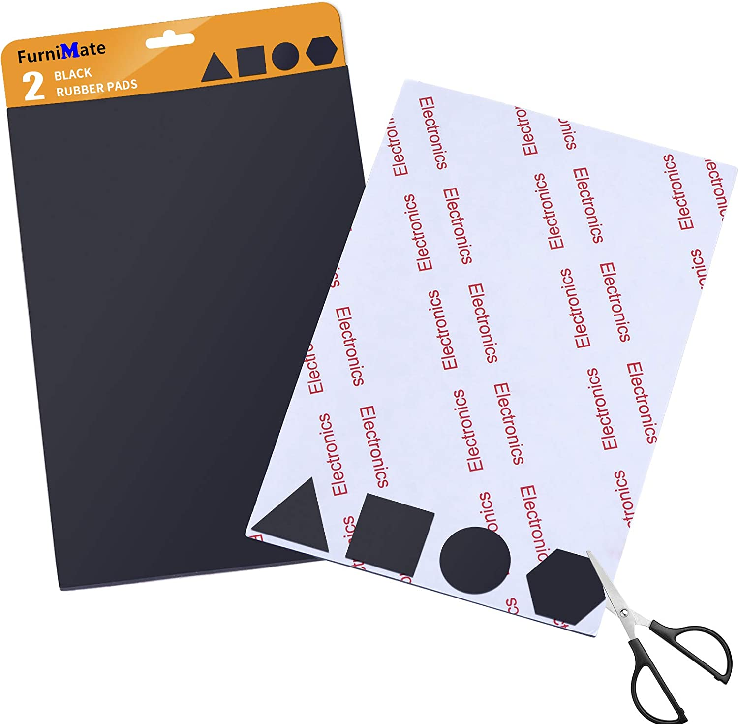 Rubber Non Super beauty product restock quality top Slip Pads Self-Stick Anti 2 Dealing full price reduction Black Pieces