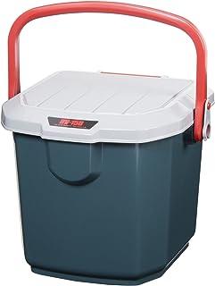 アイリスオーヤマ 収納 BOX 340×315×275 RVバケツ RV-15B グレー/ ダークグリーン