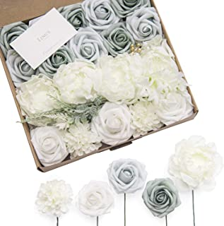 Ling's moment Sage Pale Green Artificial Flowers Box Set for Winter Sage Greenery Wedding Bouquets Centerpieces Arrangements Decorations