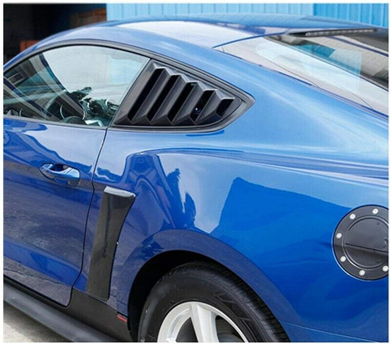 RJJX Auto-hintere Seite gepasst for Fender T/ür Scoops Rahmenabdeckung gepasst for Ford Mustang GT350 Stil 2015-2018 Fender Scoops Abdeckung Color : Black