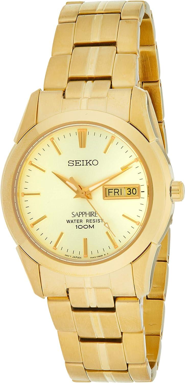 Seiko Reloj Analógico para Hombre de Cuarzo con Correa en Acero Inoxidable SGGA62P1