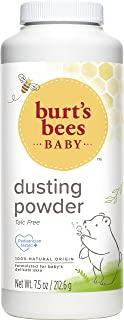 پودر گرد و غبار طبیعی صددرصد کودک Burt's Bees's Baby، پودر کودک بدون تالک - 7.5 بطری اونس (بسته 1)