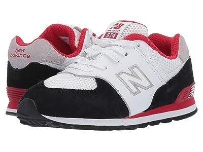 New Balance Kids 574 Summer Sport (Infant/Toddler) (Black/Team Red 2) Boys Shoes