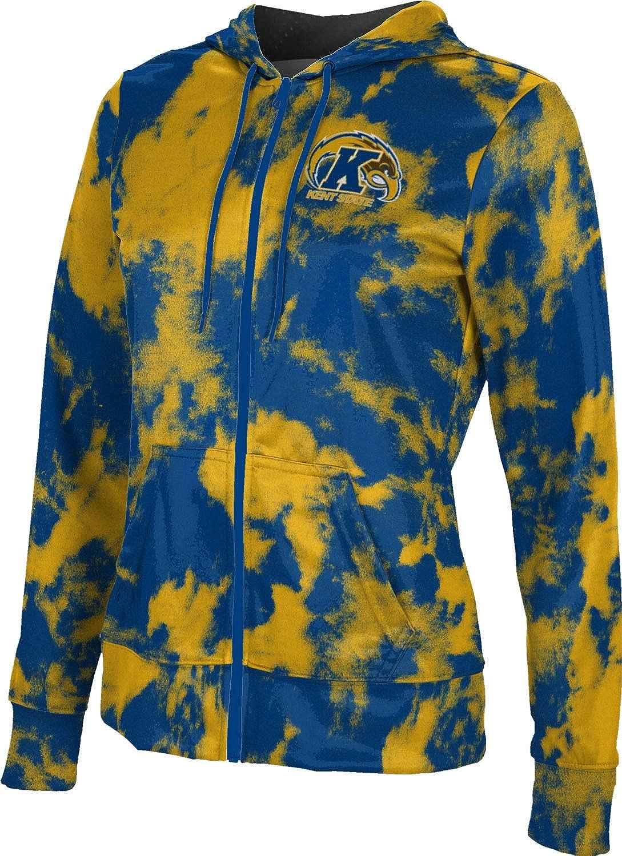 ProSphere Kent State University Girls' Zipper Hoodie, School Spirit Sweatshirt (Grunge)