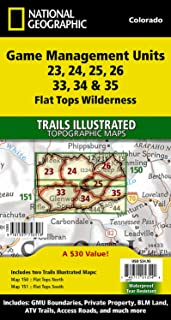Flat Tops Wilderness GMU [Map Pack Bundle] (National Geographic Trails Illustrated Map)