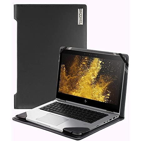 Compatible with The HP EliteBook 735 G6 13.3 FHD Laptop Broonel Black Leather Folio Sleeve