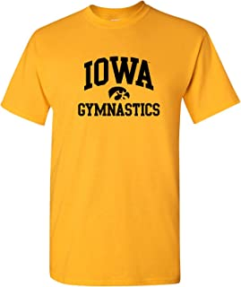 AS1099 - Iowa Hawkeyes Arch Logo Gymnastics T-Shirt - 2X-Large - Gold