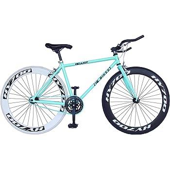 Helliot Bikes Fixie Brooklyn H41 Bicicleta Urbana, Unisex Adulto, Azul, Talla Única: Amazon.es: Deportes y aire libre
