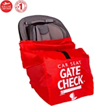 J.L. Childress Gate Check Bag for Car Seats - Air Travel Bag, Backpack Straps - Fits Convertible Car Seats, Infant carriers & Booster Seats, Red