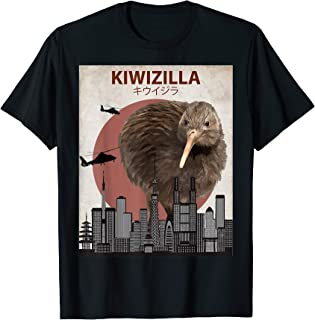 Kiwizilla Funny Kiwi T-Shirt | New Zealand Bird Lovers Gift