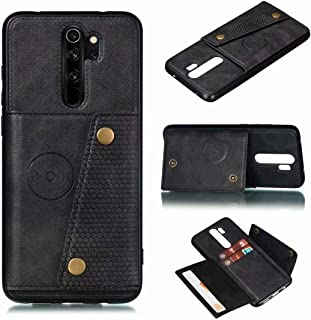 for Xiaomi Redmi 9 Prime Leather Case with card slot Hidden car magnet Wallet phone Cover RFID Blocking Credit Card Holder...