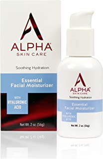 Alpha Skin Care Essential Facial Moisturizer with Hyaluronic Acid   Soothing Hydration   Reduces the Appearance of Lines & Wrinkles   For Normal to Dry Skin   2 Oz