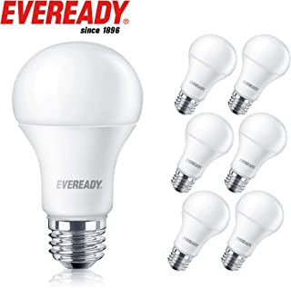 Eveready Led Light Bulbs, Non-Dimmable, 800 Lumens, 5000K Daylight White Color, 9-Watt (60W Bulb Equivalent), A19 E26 Base, UL Listed– 6 Pack