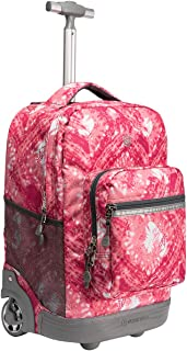 WEISHENGDA 18 inches Wheeled Rolling Backpack for Business Adults and School Students Books Travel Bag