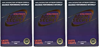 Adams Secret 1500 100% Natural Pills for Energy, and Endurance 30 Pills Per Pack