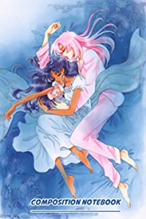 Utena And Anthy X Blue Notebook: (110 Pages, Lined, 6 x 9)