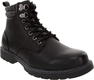 London Fog Mens Chiswick Cold Weather Memory Foam Snow Boot
