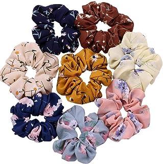 Drishti® Silky High Glossy Satin Scrunchies for Girl & Woman Set of-12 (Multicolor)