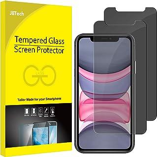 JETech Privacy Schermbeschermer Compatibel met iPhone 11 en iPhone XR 6,1 inch, Anti-Spy Gehard Glas Screen Protector, 2-S...