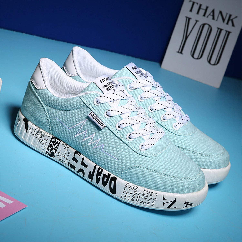 Yyixianma 2018 Fashion Women Vulcanized shoes Sneakers Women Lace-up Canvas shoes Femme Breathable White Platform Zshoes Femme Sky bluee 6