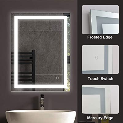 Amazon Com Keonjinn 48 X 36 Inch Led Backlit Mirror Bathroom Vanity Mirror Anti Fog Wall Mounted Lighted Mirror Dimmable Makeup Mirror With Lights Horizontal Vertical Home Kitchen