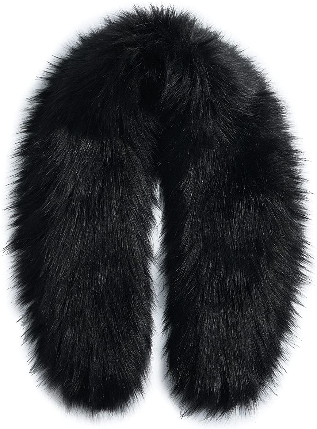 Faux Fur Collar Trim for Hood Replacement Fake Fur Scarf Winter